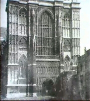 Westminster Abbey, west front, calotype by N.Henneman 1844-45